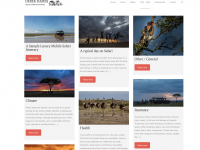 Derek Dames Safaris - Wordpress Site